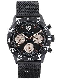 Swiss Eagle Multifunctional Black Dial Men Watch- SE-9118-33