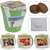 Indoor Outdoor Vegetable, Fruit & Flower Growing Pots Garden Kit