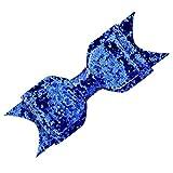 Mini bigiotteria Ragazza/Donna Fiocco Glitter Paillettes Fermaglio Capelli Clip Fiore Ragazza Matrimonio e Acciaio Inossidabile, Colore: Dark Blue, cod. HA-005