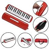 Anmas Home Style de piano Mélodica 32touches avec boîte d\'orgue accordéon Embout Blow Key Board Red