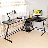 HLC-Table-Bureau-Informatique-Bureau-dAngle-Ordinateur-16112073cm-Noir-035