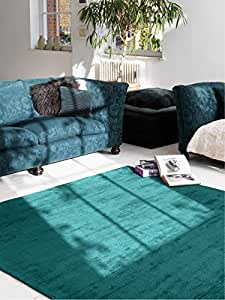 benuta tapis de salon moderne lines pas cher turquoise 200x300 cm sans pollution 100. Black Bedroom Furniture Sets. Home Design Ideas