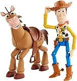 Toy Story- 4 Disney Pixar Woody e Bull Seye Personaggi Articolati da 18 cm, Giocattolo per Bambini di 3+ Anni, GDB91