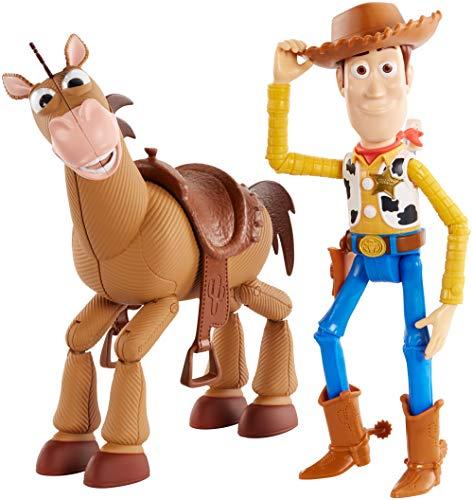 Disney Pixar Toy Story 4 Woody e Bull Seye Personaggi articolati, da 18 cm, giocattolo per bambini di 3+ anni