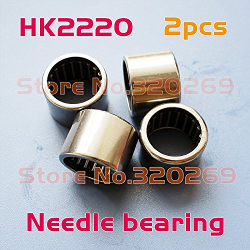 Generic 2x Open end drawn cup needle bearing 22x28x20mm shaft Tasse Nadellager roller HK2220 Shell Type bearing
