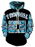 Goodstoworld Sweats à Capuche 3D Tropical 23 Imprimé Hommes Femme Hoodies Drôle Ugly Vêtements de Sport de Plein Air Pas Cher Durable Hoody Unisexe 3D Tropical XXL