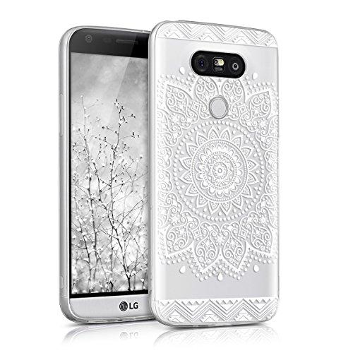 kwmobile Crystal Case Hülle für LG G5 / G5 SE - TPU Silikon Kunststoff Cover im Blume Design