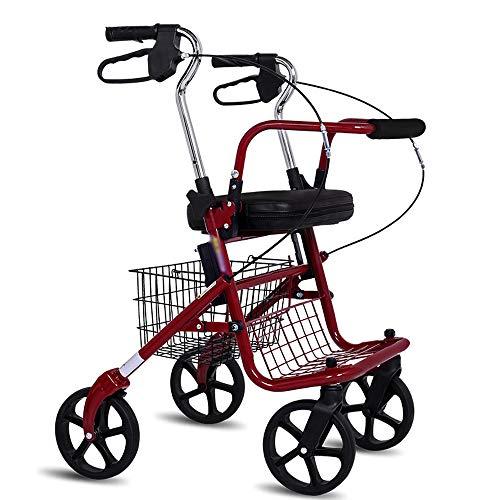 DWhui Old Man Shopping Cart, Trolley Falten Vat-Portable Seated Walking Aid Crutches geeignet für ältere Menschen, Schwangere, Menschen mit eingeschränkter Mobilität Nutzung (Shopping Cart Falten)