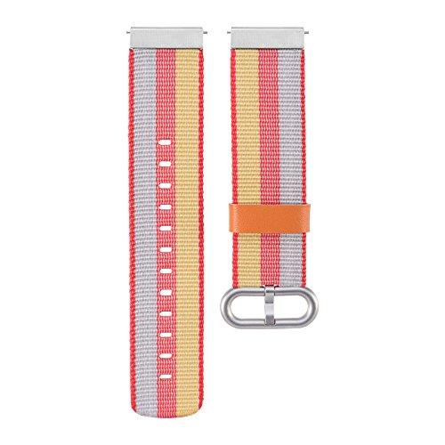 XIHAMA Universal 20mm Nylon Watch Band , Ersatz Zubehör Sport Armband für Samsung Gear S2 Classic /motorola360 2 nd/ticwatch 2 nd/Withings HR 40 mm Armbanduhr, gelb (Ersatz-nautica-uhr-band)