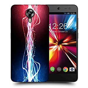 Snoogg Neon Multicolor Rays Printed Protective Phone Back Case Cover For Micromax Canvas Nitro 4G