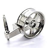 LED-Mafia Luxus Schlüsselanhänger aus Metall - Felge - Anhänger Schlüsselring Etui Chromfelge Schlüssel