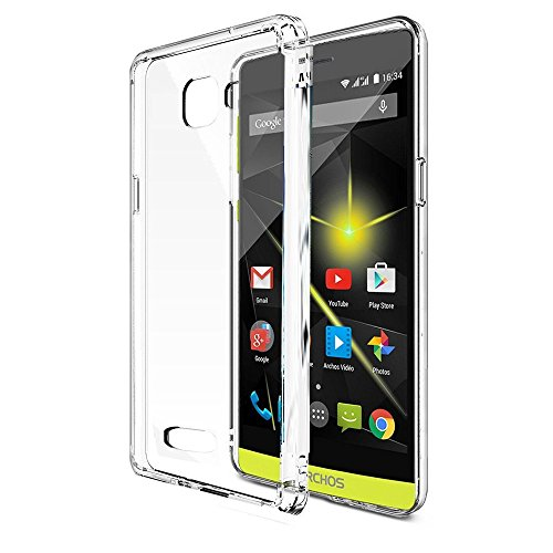XEPTIO Archos 50 Diamond 4G - Coque Protection arrière clipsable transparente smartphone UltimKaz - Accessoires pochette Exceptional case ! Prix découverte