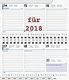 Taschenkalender 2018 Einlage Kalendarium 9x15cm Spiralbindung QUERFORMAT 10-75501