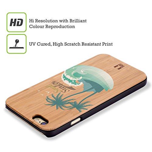 Head Case Designs Surfbrett Surfers Hülle mit Rückseite aus Bambus Holz für Apple iPhone 5 / 5s / SE Soul Surfer