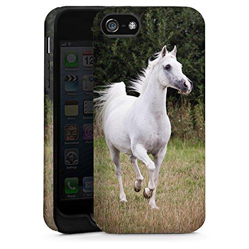 Apple iPhone 5s Hülle Schutz Case Cover Pferd Horse Tiere Tough Case matt