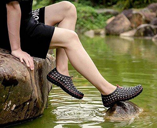 GLTER Scarpe Slip On Loafers Uomini Estate Clogs Sandali Scarpe Confortevole Spiaggia Respirabile Scarpe Casual Giovane Black
