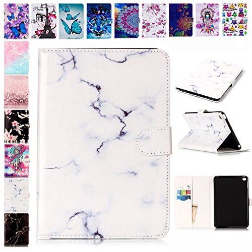 E-Mandala Apple iPad 2 3 4 Hülle Leder Flip Case Tablet PC Tasche mit Kartenfach Ledertasche Lederhülle - Weiß (Zwei Apple Ipad)
