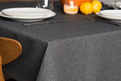 Rollmayer abwaschbar Tischdecke Wasserabweisend/Lotuseffekt (Melange Grau 68, 150x350cm) Leinenoptik Tischtuch mit pflegeleicht Fleckschutz, Rechteckig Quadratisch, Farbe & Größe wählbar