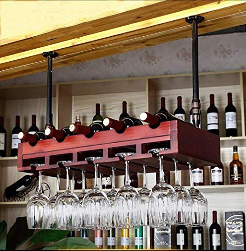 HhGold Weinregale Massivholz Bar Weinglas Inhaber Dekoration auf dem Kopf Dekoration (Farbe: D) (Farbe : B)