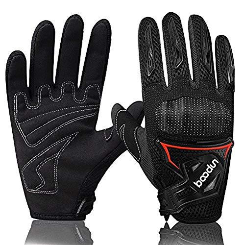 ARTOP Motorrad Handschuhe, Motorrad Cross Atmungsaktiver Handschuh mit Schutz PVC Shell Für Männer Frühling-Sommer-Herbst(Schwarz,M)