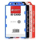 Noir Solide Porte badge 2 cartes double sens Par Lanyards Tomorrow PORTRAIT VERTICAL 9.8 x 5.8 cm Pour deux cartes CR80 taille de crédit Identité | plastique ID Carte Badge Porte-cartes Bureaux 1 Pc