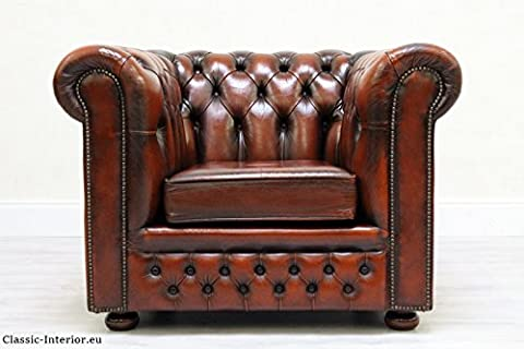 Sessel Chesterfield Chippendale Antik Braun Sofa Vintage