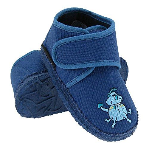 GALLUX - Hausschuhe Pantoffeln für Jungen in tollen Farben Blau