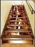 3D Höhle 31 Stair Risers Dekoration Fototapete Vinyl Aufkleber Tapete DE Lemon (15x H:18cm x W:94cm (7