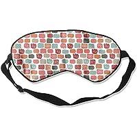 Eye Mask Eyeshade Color Block Sleep Mask Blindfold Eyepatch Adjustable Head Strap preisvergleich bei billige-tabletten.eu