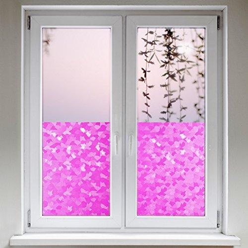 Artefact Dekofolie / Fensterfolie Fancy Pink | statisch haftend (ohne Kleber) | verschiedene Größen