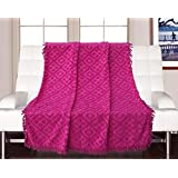 Saral Home 100% Cotton Decorative Tufted Sofa Cover-140x160 Cm, Pink
