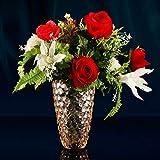 C&S Europäische Romantische Bunte Glasvasen Landing Vasen Wohnzimmer getrocknete Blumen Ornamente Wasserkultur Pflanzenbehälter