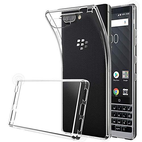 S.S. BlackBerry Key2 Premium Qualitativ Hochwertige Hülle, transparent Silikon Schutzhülle (Stoß- und Kratzfest) Elegantes TPU Case Transparent (Transparent)