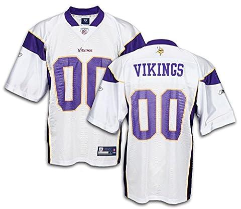 Reebok Minnesota Vikings NFL pour homme réplique équipe Jersey, - Blanc - Large
