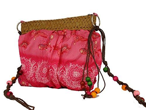 """La Loria Borsa da ragazza """"stile hippie stile indiano borsa a tracolla Pink Taglia unica"""