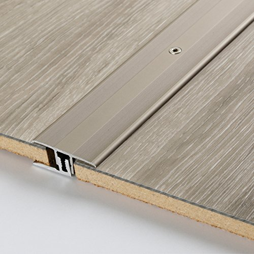 PARADOR Werkzeug Übergangsprofil Aluminium Edelstahl für Vinyl/Laminat Bodenbeläge 7-15 mm