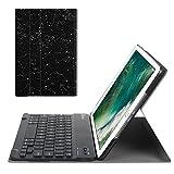Fintie iPad 9.7 Zoll 2018 2017 / iPad Air 2 / iPad Air Bluetooth Tastatur Hülle Keyboard Case - Ultradünn leicht SlimShell Ständer Schutzhülle mit magnetisch abnehmbarer drahtloser deutscher Bluetooth Tastatur für Apple iPad 9,7'' 2018 / 2017, iPad Air 1 / 2, Sternbild