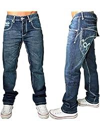 Vrai Peviani Épais Couture Temps Jeans, Is Money G Nappy Étoile Hip Hop Urbain Jeans