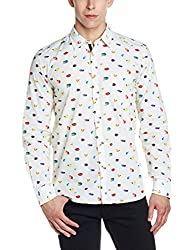 Parx Mens Casual Shirt (8907575733413_XMSS05693-F2_44_Light Fawn)