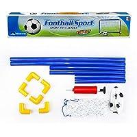 joyliveCY Desmontable Football Gate Deportes al Aire Libre DIY Niños Deportes Metas de fútbol con balón de fútbol y Bomba Práctica Juego de Entrenamiento 1 Juego