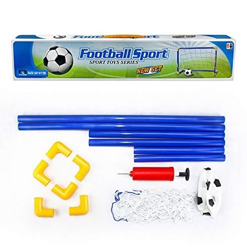 Fußballtor Outdoor Sports DIY Kinder Sport Fußballtore mit Fußball und Pump Practice Scrimmage Game 1 Set ()