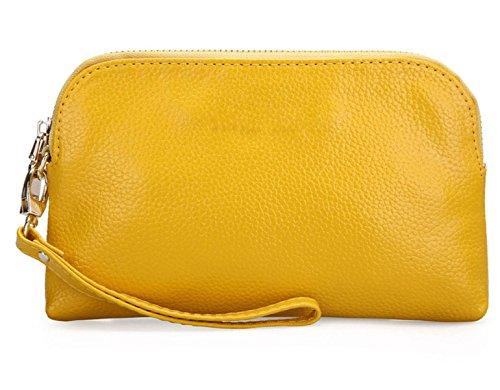 Pochette In Pelle Semplice Ms. Yellow