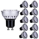 Lampaous® GU10 LED Lampe 7W, ersetzt 60W Halogen, warmweiß (3000K), 600lm 90° Abstrahlwinkel, LED Birnen, LED Leuchtmittel, LED Deckenlampen Strahler, LED Einbauleuchte,10er Pack