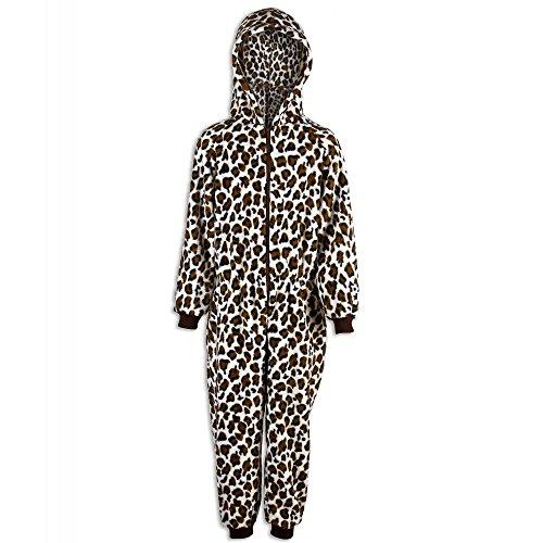Pijama infantil de una pieza - Estampado de leopardo de las nieves 12-14 Years
