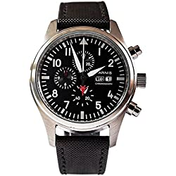 PARNIS 9042 Montre d'aviateur Chronographe Miyota 42 mm