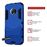 Motorola Moto G5 2017 / Lenovo moto G5 case (Blue) Cover High Quality MODERN Geometric Design [Ultra Armor] Tough Durable [Kickstand Feature] Survivor Hard Rugged [Shock Proof Case] Anti-Scratch Protective Sleekwith Back Stand Skin Case Cover + Tempered Glass Screen Protector + FREE SCREEN PROTECTOR FILM By i-Tronixs®