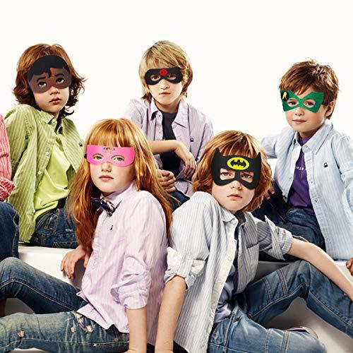 51I1ACv7IqL - URAQT Mascaras Superheroes, Máscaras para Niños, Máscaras Disfraz Superheroes Niños, Máscaras para Niños, Superheroes Party Máscaras, para Niños Mayores de 3 Años -16 Piezas