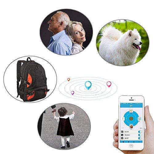 Emma 2x Smart Tag Bluetooth Schlüsselfinder Locator Tracker Schlüssel Kinder Pet GPS Finder Schwarz