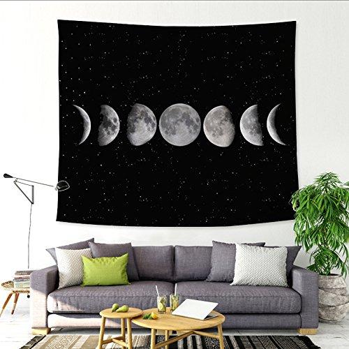 tive Tapisserie Plane Hintergrund Tuch Dekoration wandbild mond 150x100 (165g) ()