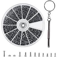 600Pcs Kleine Schrauben Mutter Sortiment Kit Set Edelstahl Reparatur Werkzeugset mit Schraubendreher M1 M1.2 M1.4 M1.6 Für Uhren Brillen